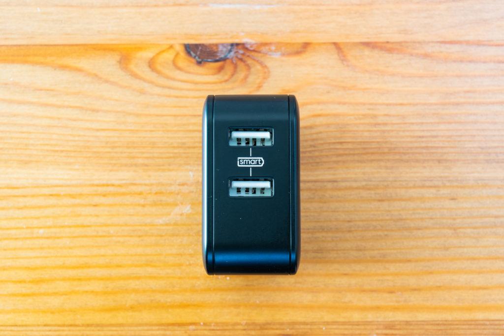 RAVPower USB 充電器 ポート部
