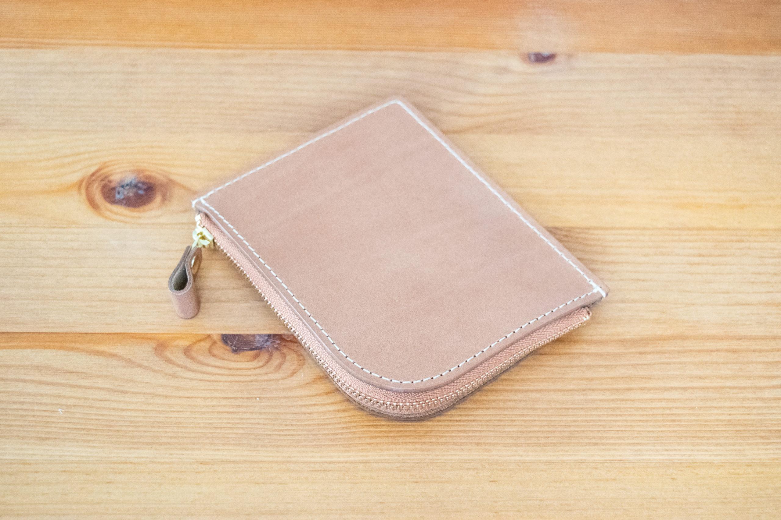 土屋鞄製作所 ナチューラ ヌメ革 Lファスナー 財布 レビュー