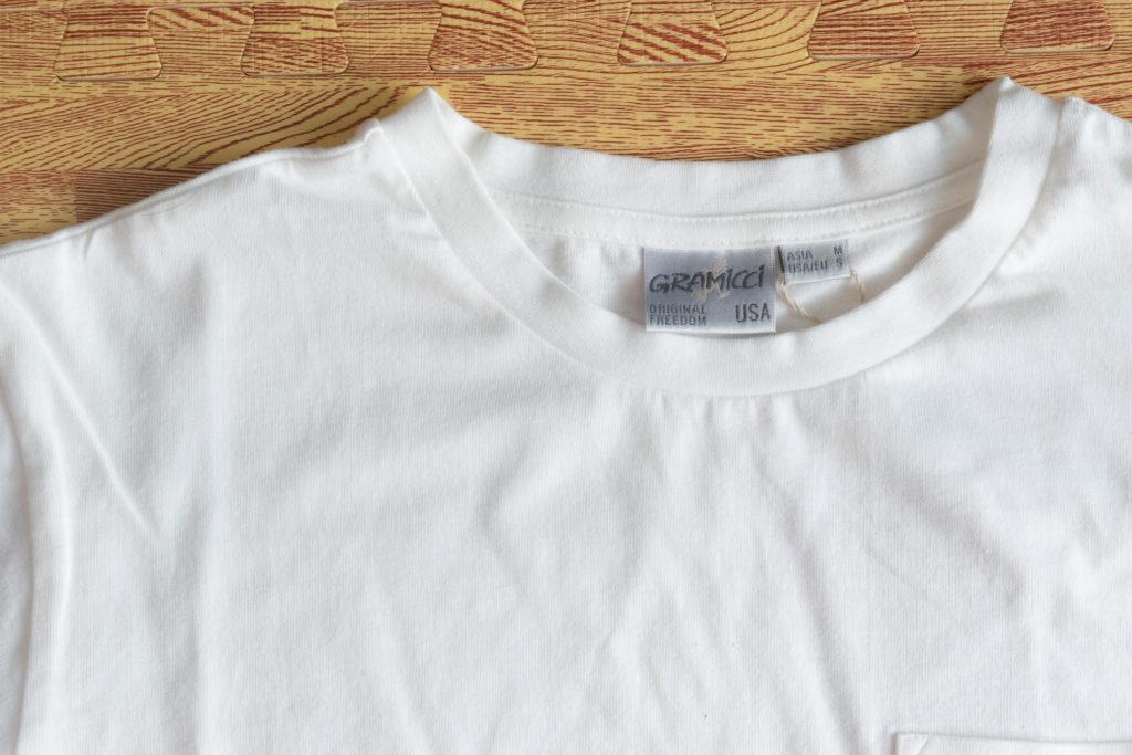 グラミチ ワンポイントポケットTシャツ レビュー
