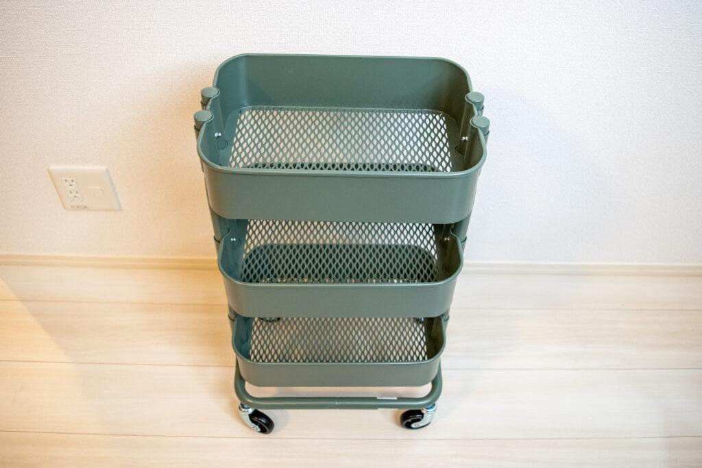 無垢の1枚板を天板にしてデスクを自作【DIY】IKEA ワゴン