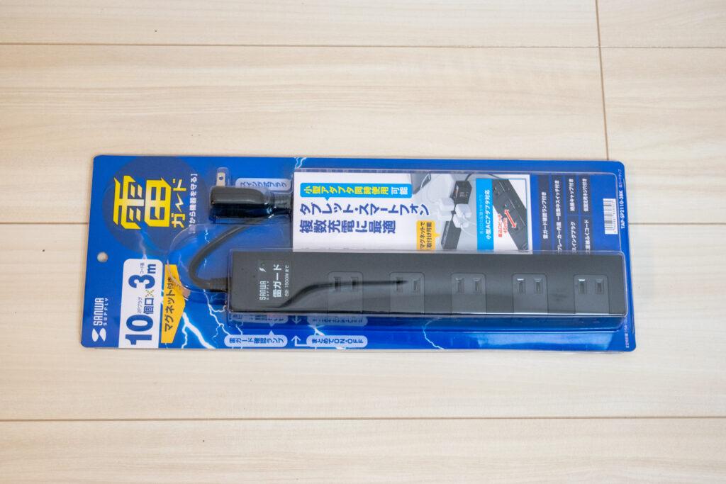 無垢の1枚板を天板にしてデスクを自作【DIY】電源タップ