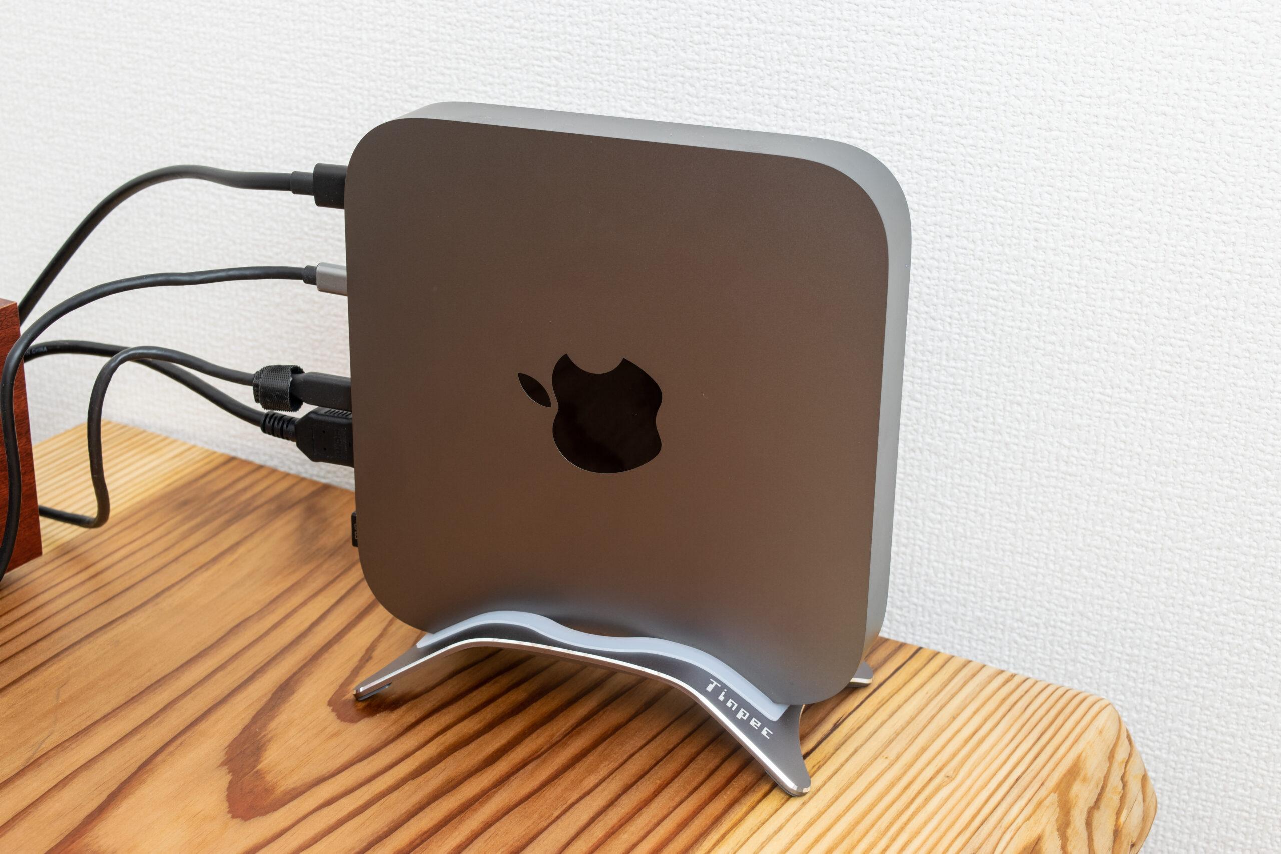 Mac mini用アルミスタンド レビュー
